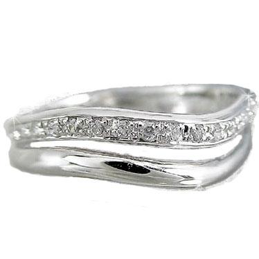 【送料無料】エンゲージリング ダイヤモンド リング ホワイトゴールドK18 婚約指輪 エタニティリング ピンキーリング 指輪 18金 ダイヤモンドリング ダイヤ ストレート 贈り物 誕生日プレゼント ギフト ファッション 18k