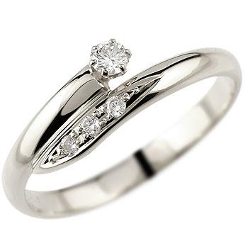 【送料無料】婚約指輪 エンゲージリング ダイヤモンド ホワイトゴールドK18 ピンキーリング 18金 ダイヤモンドリング ダイヤ ストレート 贈り物 誕生日プレゼント ギフト ファッション 妻 嫁 奥さん 女性 彼女 娘 母 祖母 パートナー