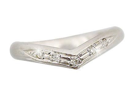 ピンキーリング 指輪ダイヤモンド ホワイトゴールドk18 ダイヤ 18金 4月誕生石 ストレート 宝石 送料無料