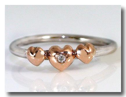 【送料無料】ダイヤモンド リング ピンクゴールドK18 プラチナ900 指輪エンゲージリングハート 一粒 18金 ダイヤモンドリング ダイヤ ストレート 贈り物 誕生日プレゼント ギフト ファッション 妻 嫁 奥さん 女性 彼女 娘 母 祖母 パートナー