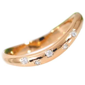 ダイヤモンド リング ピンクゴールドK18 婚約指輪 エンゲージリング ダイヤモンド リング 18金 ダイヤモンドリング ダイヤ ストレート 2.3 女性 送料無料