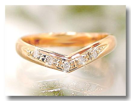 【送料無料】婚約指輪 ダイヤモンド リングピンクゴールドK18 エンゲージリング0.03ct 記念リング 18金 ダイヤモンドリング ダイヤ ストレート 2.3 贈り物 誕生日プレゼント ギフト ファッション 18k