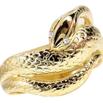 【送料無料】 ダイヤモンド リング イエローゴールドK18 婚約指輪 エンゲージリング スネークリング 蛇リング 指輪 18金 ダイヤモンドリング ダイヤ 贈り物 誕生日プレゼント ギフト ファッション 18k 妻 嫁 奥さん 女性 彼女 娘 母 祖母 パートナー