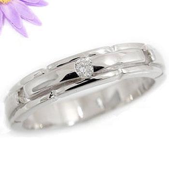 【送料無料】ピンキーリング 指輪 ダイヤモンド リング ダイヤモンド 一粒 ホワイトゴールドK18 18金 ダイヤモンドリング ダイヤ ストレート ファッション