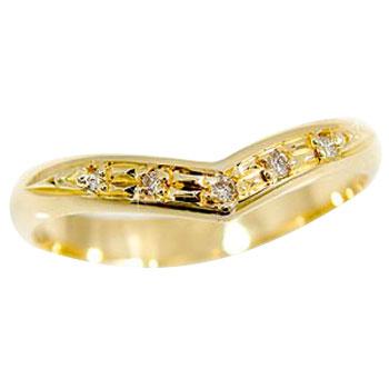ピンキーリング 指輪ダイヤモンド イエローゴールドk18 k18 ダイヤ 18金 4月誕生石 ストレート 2.3 宝石 送料無料