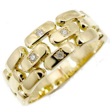 【送料無料】 ダイヤモンド リング イエローゴールドK18 婚約指輪 エンゲージリング 18金 ダイヤモンドリング ダイヤ ストレート 贈り物 誕生日プレゼント ギフト ファッション 妻 嫁 奥さん 女性 彼女 娘 母 祖母 パートナー