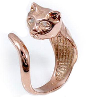 【送料無料】婚約指輪 エンゲージリング 猫 リング ダイヤモンド ピンクゴールドk18 18金 ダイヤモンドリング ダイヤ ストレート 贈り物 誕生日プレゼント ギフト ファッション 18k 妻 嫁 奥さん 女性 彼女 娘 母 祖母 パートナー