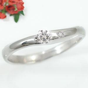 エンゲージリング 婚約指輪 ピンキーリング ダイヤモンド リング 一粒 ホワイトゴールドK18 18金 ダイヤモンドリング ダイヤ ストレート 贈り物 誕生日プレゼント ギフト ファッション 18k 妻 嫁 奥さん 女性 彼女 娘 母 祖母 パートナー 送料無料