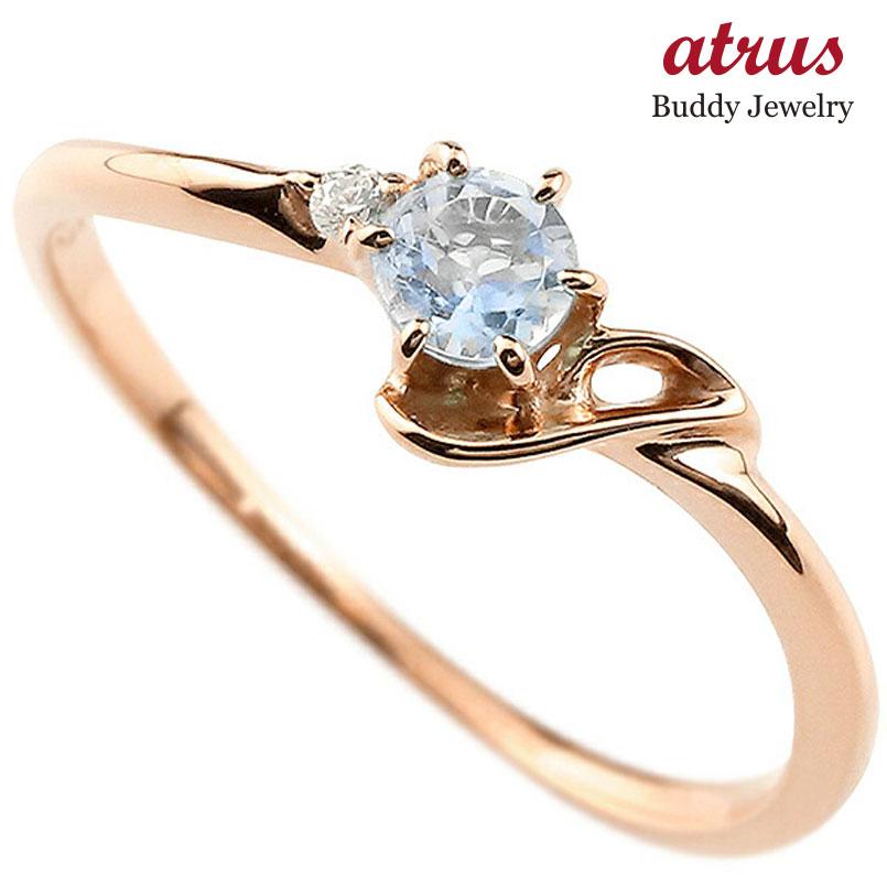 【送料無料】ピンキーリング エンゲージリング イニシャル ネーム J 婚約指輪 ブルームーンストーン ダイヤモンド ピンクゴールドk10 指輪 アルファベット 10金 レディース 6月誕生石 人気 ファッション お返し
