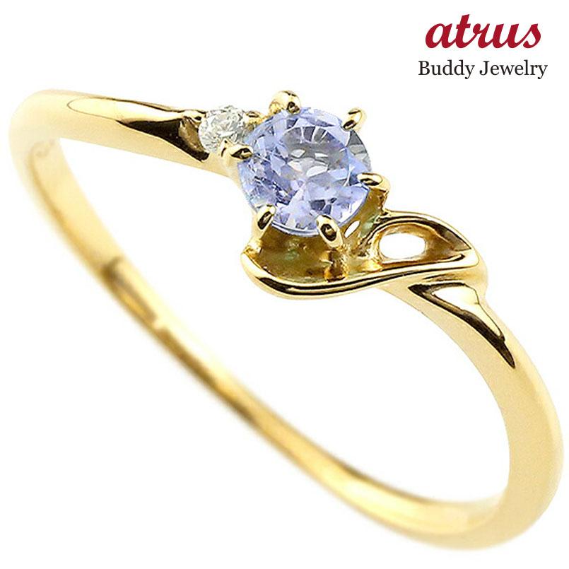【送料無料】ピンキーリング エンゲージリング イニシャル ネーム J 婚約指輪 タンザナイト ダイヤモンド イエローゴールドk18 指輪 アルファベット 18金 レディース 12月誕生石 人気 ファッション お返し