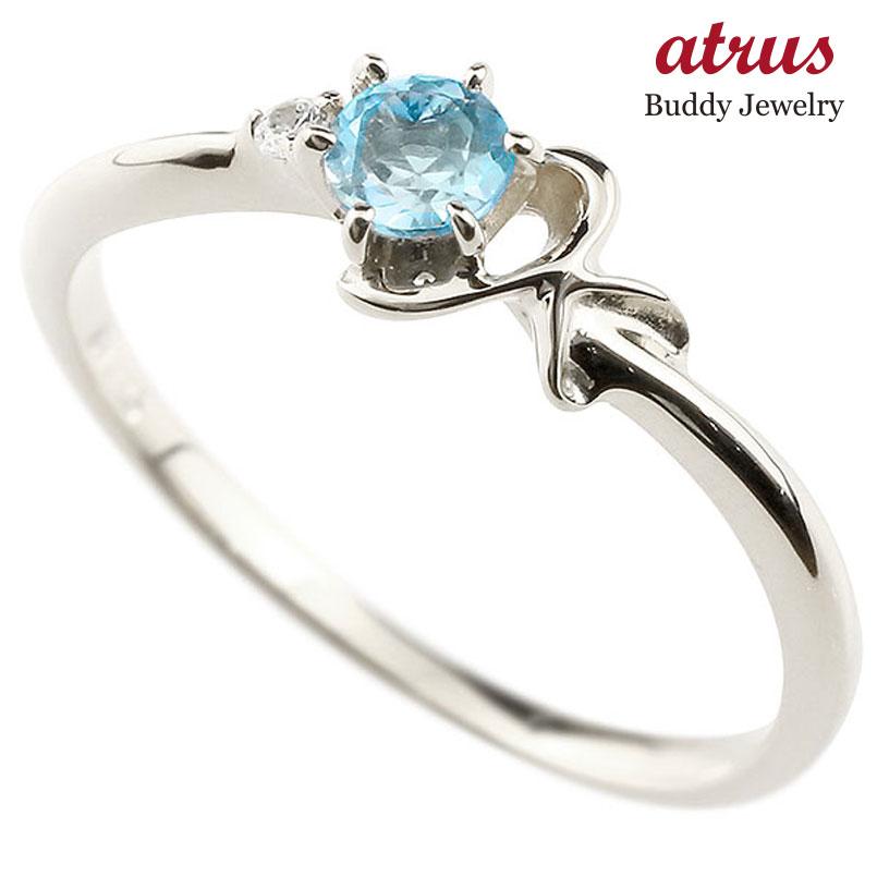 【送料無料】ピンキーリング エンゲージリング イニシャル ネーム K 婚約指輪 ブルートパーズ ダイヤモンド プラチナ 指輪 アルファベット レディース 11月誕生石 人気 ファッション お返し