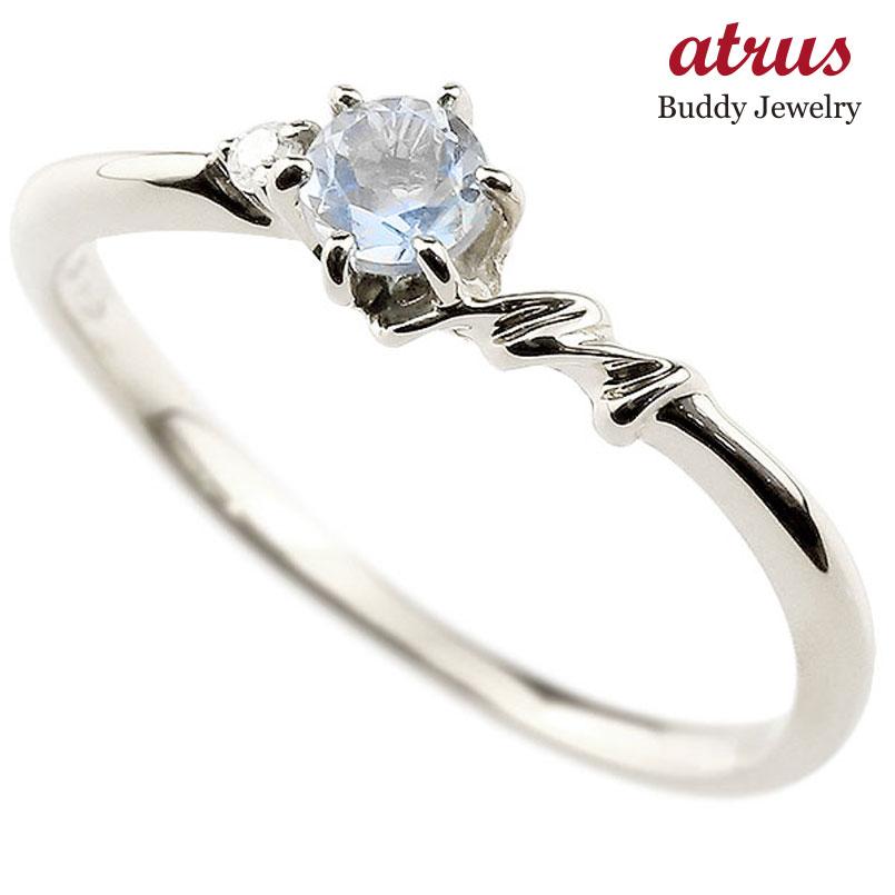 【送料無料】ピンキーリング エンゲージリング イニシャル ネーム M 婚約指輪 ブルームーンストーン ダイヤモンド ホワイトゴールドk18 指輪 アルファベット 18金 レディース 6月誕生石 人気 ファッション お返し