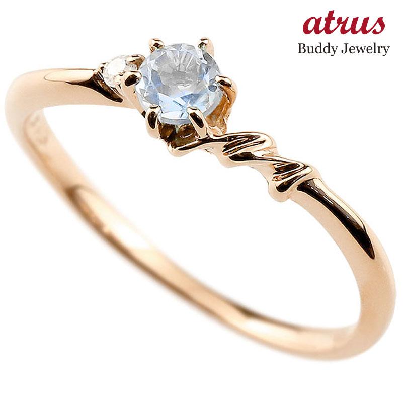 【送料無料】ピンキーリング エンゲージリング イニシャル ネーム M 婚約指輪 ブルームーンストーン ダイヤモンド ピンクゴールドk18 指輪 アルファベット 18金 レディース 6月誕生石 人気 ファッション お返し