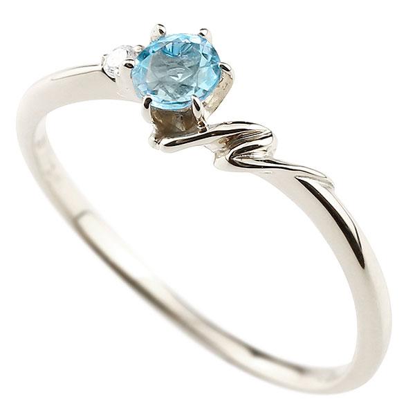 【送料無料】ピンキーリング エンゲージリング イニシャル ネーム N 婚約指輪 ブルートパーズ ダイヤモンド ホワイトゴールドk18 指輪 アルファベット 18金 レディース 11月誕生石 人気 ファッション お返し