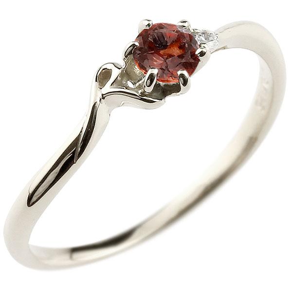 【送料無料】ピンキーリング エンゲージリング イニシャル ネーム R 婚約指輪 ガーネット ダイヤモンド プラチナ 指輪 アルファベット レディース 1月誕生石 人気 ファッション お返し