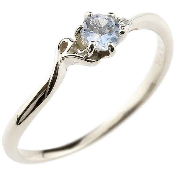 【送料無料】ピンキーリング エンゲージリング イニシャル ネーム R 婚約指輪 ブルームーンストーン ダイヤモンド ホワイトゴールドk18 指輪 アルファベット 18金 レディース 6月誕生石 人気 ファッション お返し