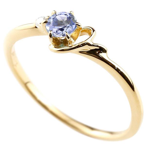 【送料無料】ピンキーリング エンゲージリング イニシャル ネーム Y 婚約指輪 タンザナイト ダイヤモンド イエローゴールドk18 指輪 アルファベット 18金 レディース 12月誕生石 人気 ファッション お返し