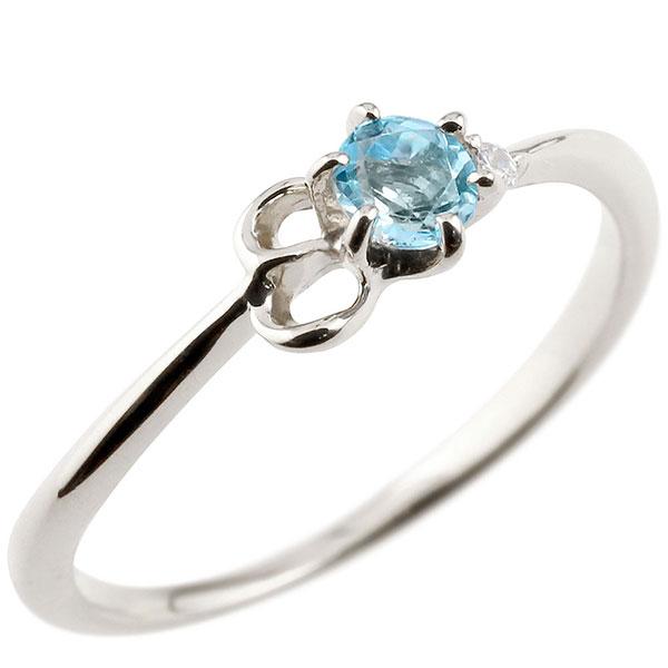 【送料無料】ピンキーリング エンゲージリング イニシャル ネーム E 婚約指輪 ブルートパーズ ダイヤモンド ホワイトゴールドk18 指輪 アルファベット 18金 レディース 11月誕生石 人気 ファッション お返し