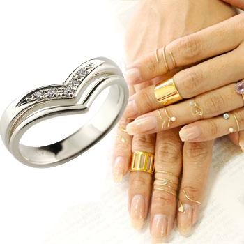 ファランジリング 2連リング ダイヤモンド ホワイトゴールドk18 ミディリング 関節リング 指輪 ピンキーリング V字リング レディース ネイルリング ダイヤ 18金 贈り物 誕生日プレゼント ギフト ファッション お返し 妻 嫁 奥さん 女性 彼女 娘 母 祖母 パートナー 送料無料