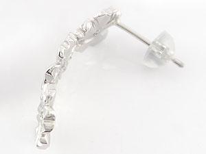 18金 ピアス送料無料 ハワイアンジュエリーダイヤモンド ブルートパーズピアス ホワイトゴールドk18フラワースタッドピアスUzMpSV