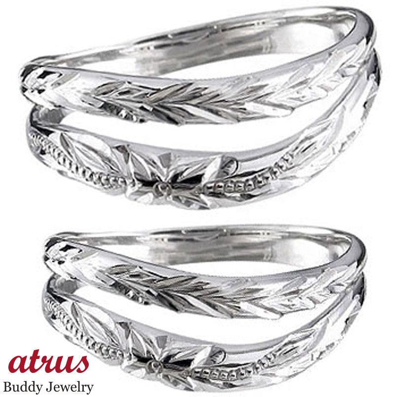 ペアリング ハワイアンジュエリー 人気 結婚指輪 マリッジリング シルバー ミル打ち 地金リング sv925 カップル 贈り物 誕生日プレゼント ギフト ファッション パートナー 送料無料