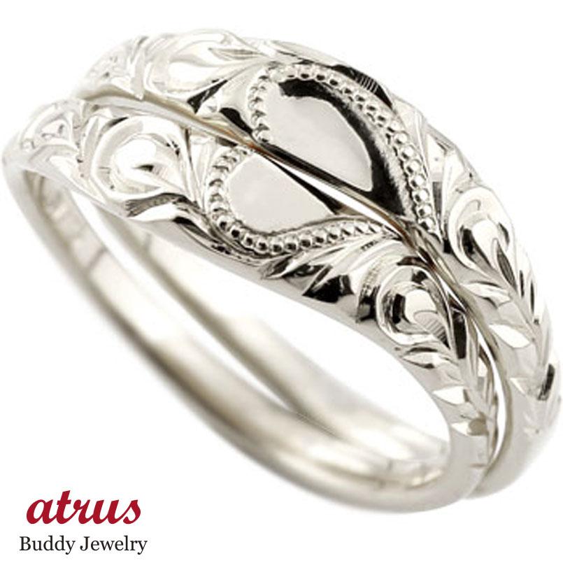 永遠に輝き続ける深彫りのハワイアンジュエリー ペアリング ハワイアンジュエリー ハードプラチナ950 人気 結婚指輪 マリッジリング ハート ミル打ち 地金リング pt950 ストレート カップル ブライダル結婚指輪 シンプル結婚指輪 人気 ペア シンプル 2本セット 彼女 結婚記念日 パートナー 送料無料