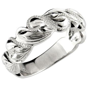 ハワイアンジュエリーリング オーダー 手彫り 人気 結婚 休日 ハワイアンジュエリー 指輪 シルバー925 地金リング ミル打ち 春の新作続々 送料無料 ストレート SV925 ミル ハート