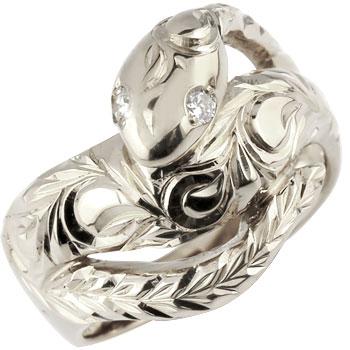 ハワイアンジュエリー リング 蛇 プラチナ リング ダイヤモンド ダイヤ スネーク 指輪 レディース ハワイアンリング pt900 贈り物 誕生日プレゼント ギフト ファッション お返し