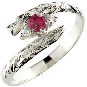 ハワイアンジュエリーリング オーダー 誕生日プレゼント 手彫り 人気 結婚 ハワイアンジュエリー ピンキーリング 販売実績No.1 リング ルビー sv925 7月誕生石 ストレート シルバー 送料無料 指輪 宝石 ハワイアンリング