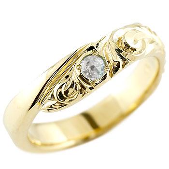 ハワイアンジュエリー リング ブルームーンストーン イエローゴールドk10リング 指輪 ハワイアンリング スパイラル k10 レディース 6月誕生石 贈り物 誕生日プレゼント ギフト ファッション お返し