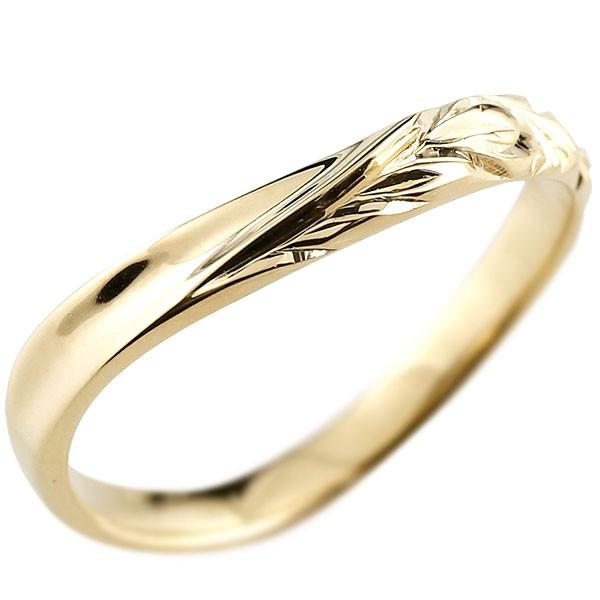 ハワイアンジュエリー リング イエローゴールドk10リング 指輪 ハワイアンリング V字 地金 k10 レディース 贈り物 誕生日プレゼント ギフト ファッション お返し 妻 嫁 奥さん 女性 彼女 娘 母 祖母 パートナー 送料無料