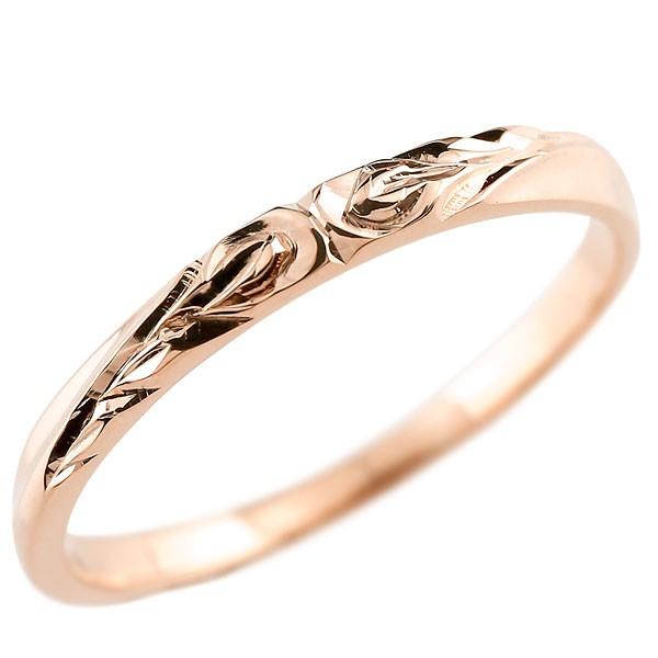 ハワイアンジュエリー リング ピンクゴールドk10リング 指輪 ハワイアンリング 地金 ストレート k10 レディース 贈り物 誕生日プレゼント ギフト ファッション お返し 妻 嫁 奥さん 女性 彼女 娘 母 祖母 パートナー 送料無料