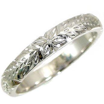 ハワイアンジュエリー リング リング 指輪 ホワイトゴールドk18 一粒 ダイヤモンド ハワイアンリング 18金 k18wg ストレート 贈り物 誕生日プレゼント ギフト ファッション 18k