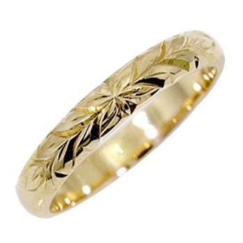 ハワイアンジュエリー リングハワイアンリング指輪イエローゴールドk18K18 ハワイ 地金リング 18金 ストレート 贈り物 誕生日プレゼント ギフト ファッション 2019
