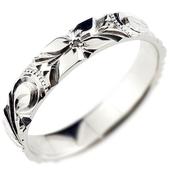 【送料無料】ハワイアンジュエリー リング ブラックダイヤモンド ハワイアンリング 指輪 プラチナリング 一粒 ハワイ pt900 ダイヤ ストレート 贈り物 誕生日プレゼント ギフト ファッション 妻 嫁 奥さん 女性 彼女 娘 母 祖母 パートナー