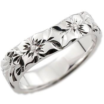 ピンキーリング ハワイアンジュエリー プラチナリング ハワイアンリング 指輪 ダイヤモンド リング ハワイ pt900 ダイヤ ストレート 夏 妻 嫁 奥さん 女性 彼女 娘 母 祖母 パートナー 送料無料