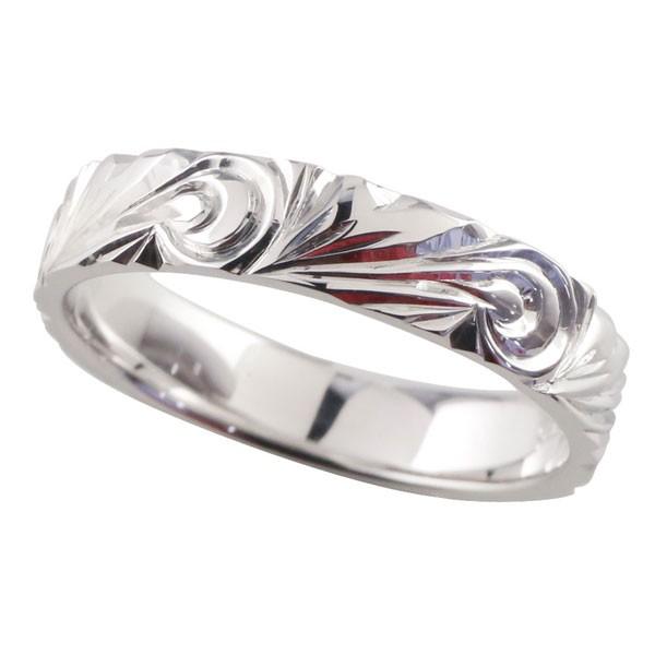 最も  ハワイアンジュエリー ピンキーリング ハワイアンリング 指輪 ホワイトゴールドK18 マイレ 葉 スクロール 波 地金リング 18金 k18wg ストレート 送料無料, ホルキン b881cc73