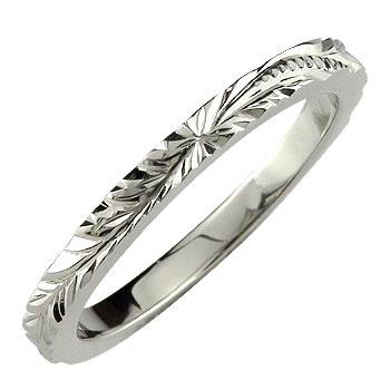 ピンキーリング ハワイアンジュエリー ハワイアンリング 指輪 プラチナ ハワイ 地金リング pt900 ストレート