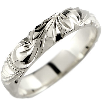 ハワイアンジュエリー リング 指輪 ノーブルシルバー ピンキーリング ハワイアンリング 地金リング sv925 ストレート