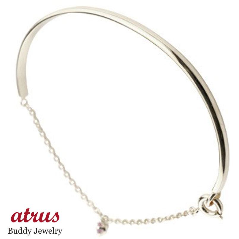 メンズ ピンクサファイア ブレスレット 一粒 シルバー シンプル 9月誕生石 宝石 送料無料 父の日