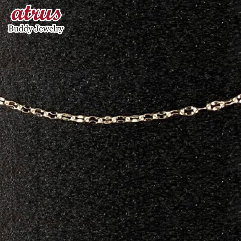 メンズ ブレスレット ホワイトゴールドk18 チェーン ペタルチェーン 鎖 18金 地金ブレスレット 男性用 送料無料