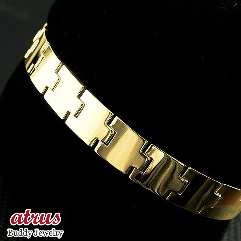メンズ ブレスレット イエローゴールドk18 シンプル 幅広 ベルト 地金 k18 18金 男性用 コントラッド 東京 CONTRAD TOKYO 送料無料