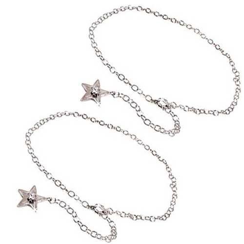 ペアブレスレット ダイヤモンド プラチナ 星 スター ダイヤモンド 0.10ct PT850 一粒 チェーン 送料無料 父の日