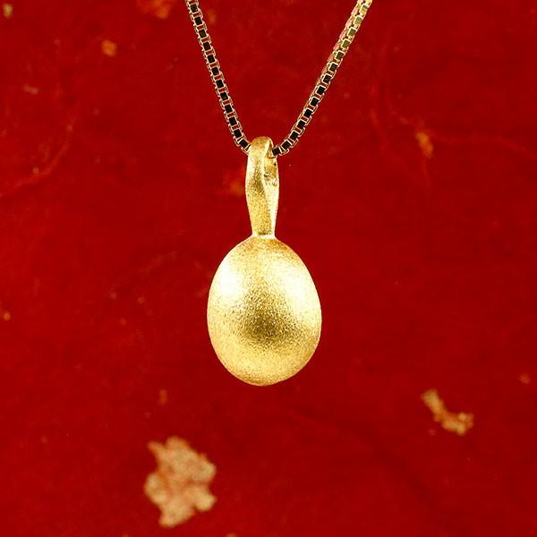 純金 メンズ ネックレス 24金 ゴールド イースターエッグ 卵 24K ペンダント 24金 ゴールド k24 誕生記念 たまご タマゴ 送料無料 父の日