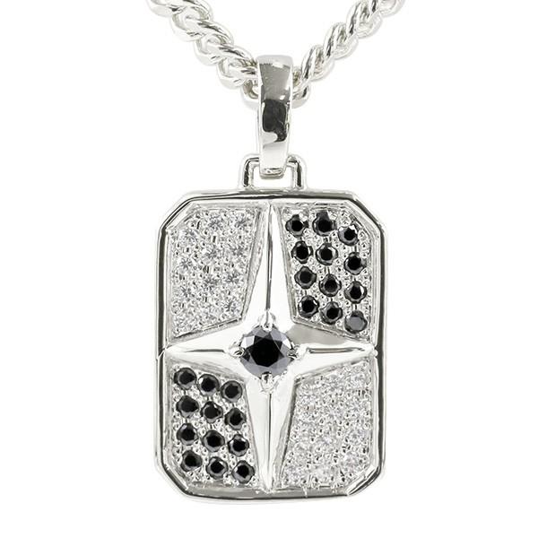 喜平用 メンズ ブラックダイヤモンド ダイヤモンド ネックレス シルバー925 クロス シールド ペンダント 十字架 盾 sv925 星 男性用 キヘイチェーン 父の日