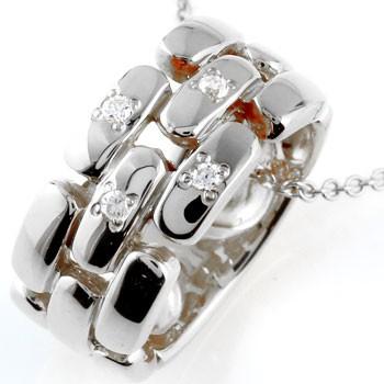 ネックレス メンズ ダイヤモンド ネックレス ペンダント ダイヤ リングネックレス ホワイトゴールドk18 18金人気 ストレート 男性用 シンプル 送料無料 父の日