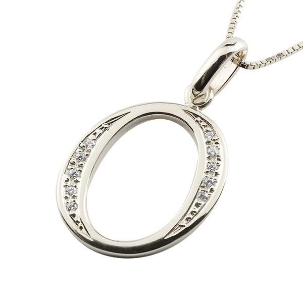 イニシャル ネーム メンズ O ネックレス トップ ダイヤモンド シルバー925 ペンダント アルファベット チェーン 人気 男性 ダイヤ 送料無料