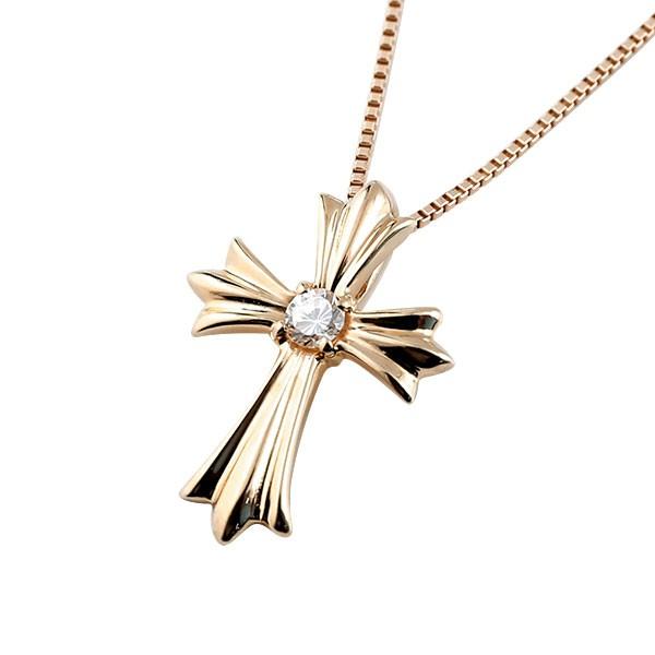 十字架 ダイヤモンドネックレス 送料無料 10k メンズ 公式通販 ネックレス ダイヤモンド トップピンクゴールドk10 の ダイヤ チェーン 10金 驚きの価格が実現 クロス ペンダント 人気