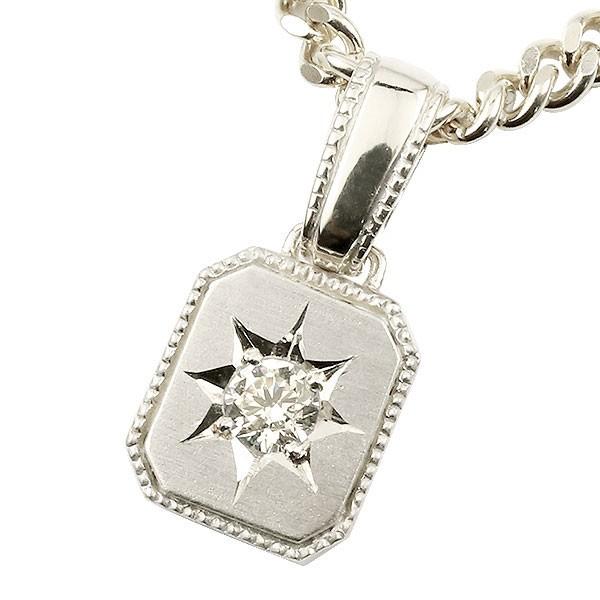プラチナ ネックレス メンズ 喜平用 キヘイ メンズ ダイヤモンド 一粒 ダイヤ ペンダント pt900 チェーン 人気 ホーニング つや消し加工 父の日