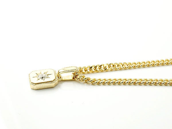 ネックレス メンズ 喜平用 キヘイ メンズ ダイヤモンド ネックレス 一粒 イエローゴールドk10 ダイヤ ペンダント 10金 チェーン 人気 ホーニング つや消し加工Tc3lJF1K